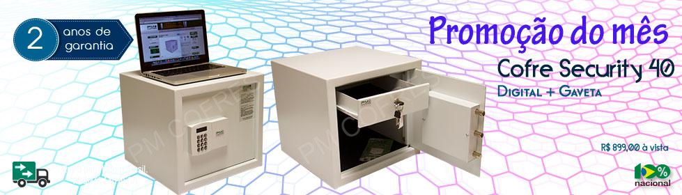 Cofre Security 40 Digital + Gaveta| Promoção do Mês