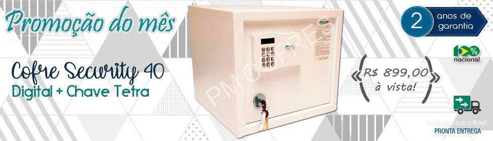 Cofre Security 40 Digital + Chave Tetra Promoção do Mês