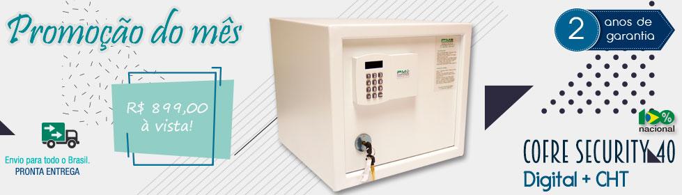Cofre Security 40 Digital + CHT| Promoção do Mês