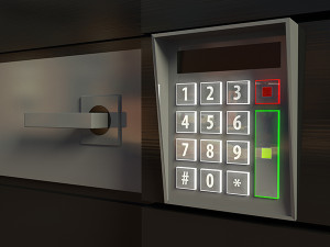 3d door and electronic lock or intercom